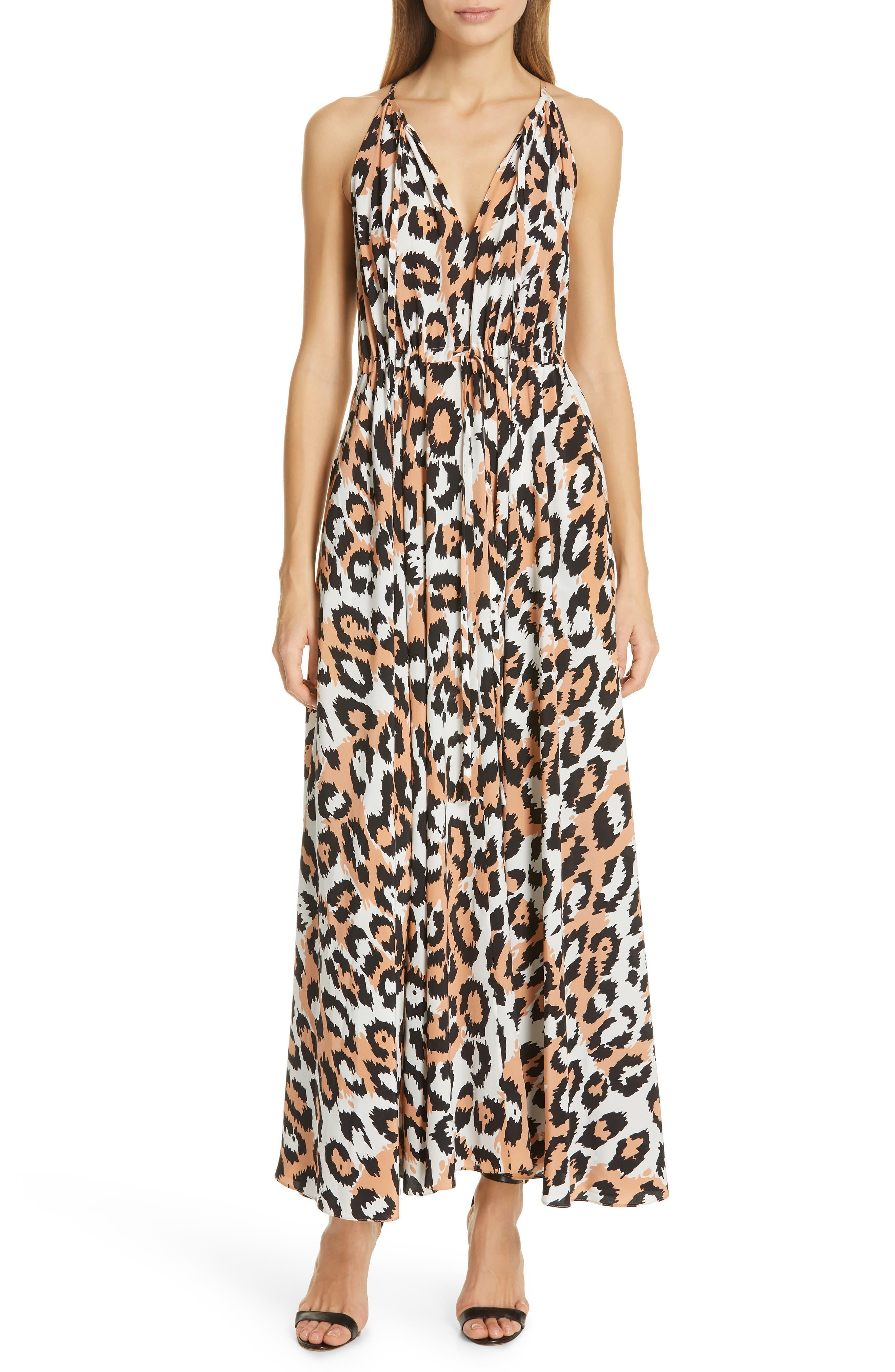 Dvf Sierra Silk Maxi Dress, Beige