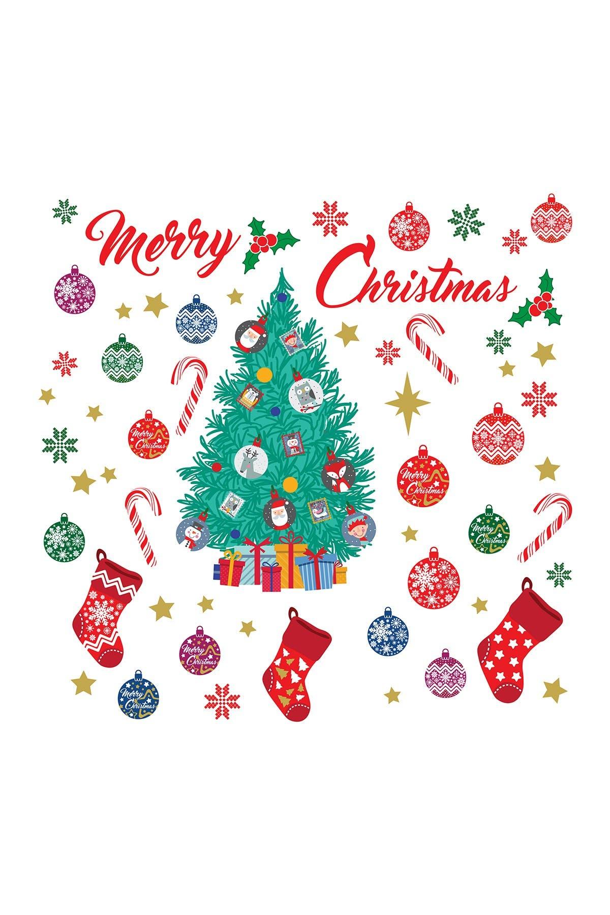 Image of WalPlus Merry Christmas and Christmas Tree Wall Decal