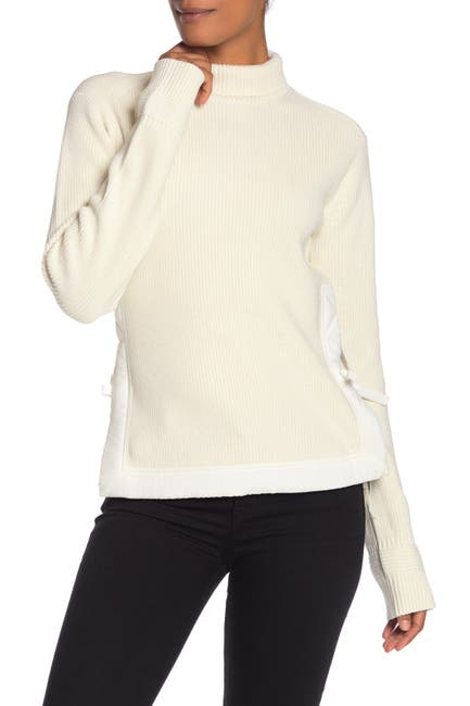 Image of Helmut Lang Military Rib Knit Side Tie Sweater