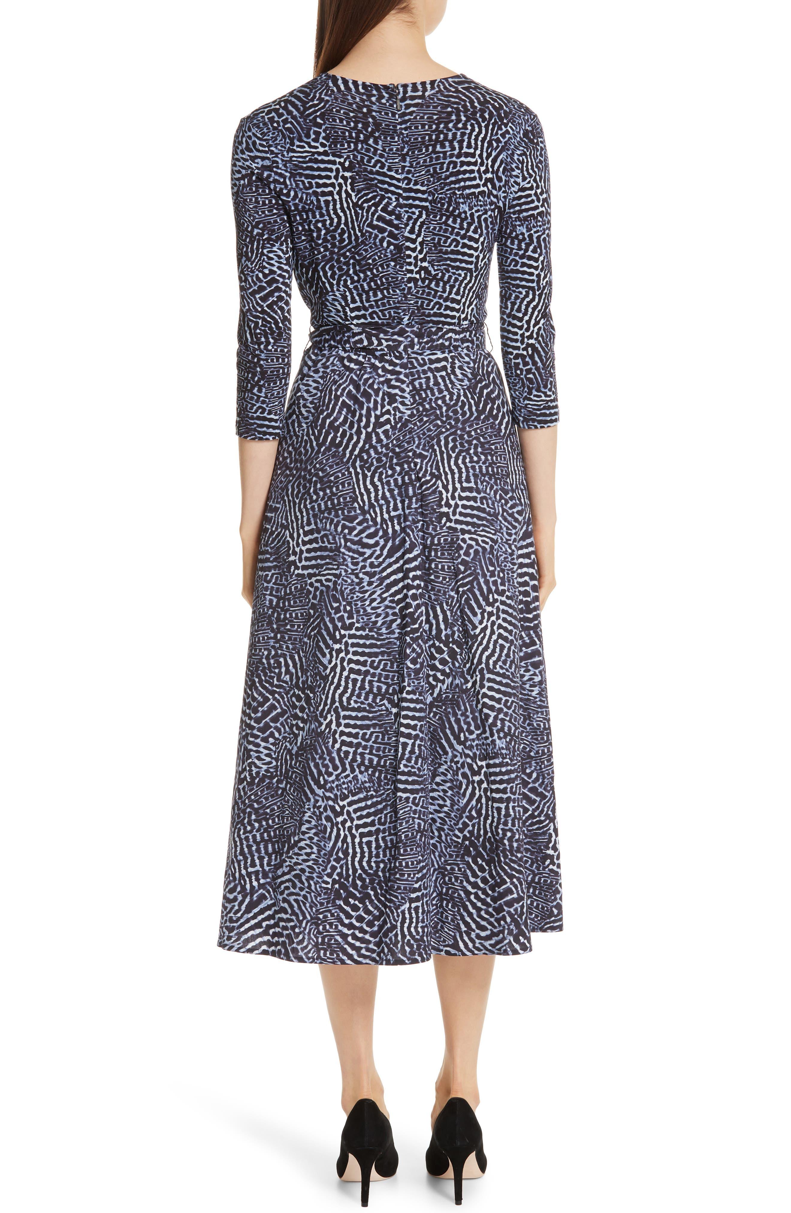 ,                             Acume Print Faux Wrap Dress,                             Alternate thumbnail 2, color,                             CORNFLOWER BLUE