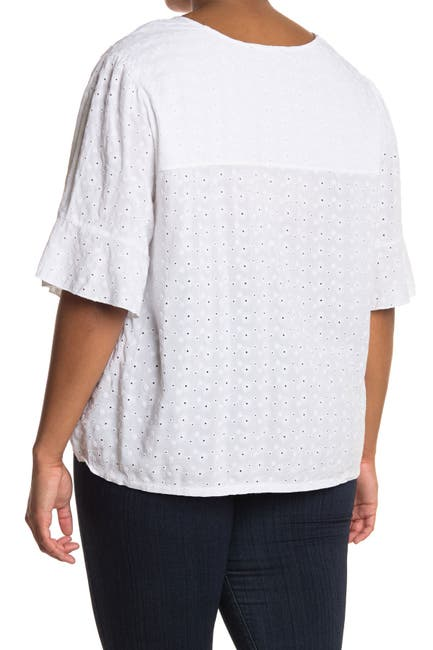 Image of Sanctuary Garden Embroidered Surplice Neck Top