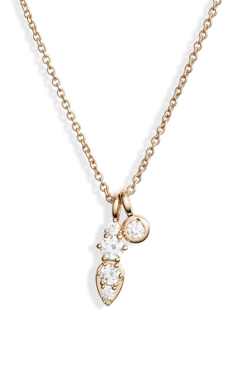 NADRI Double Pendant Necklace, Main, color, GOLD