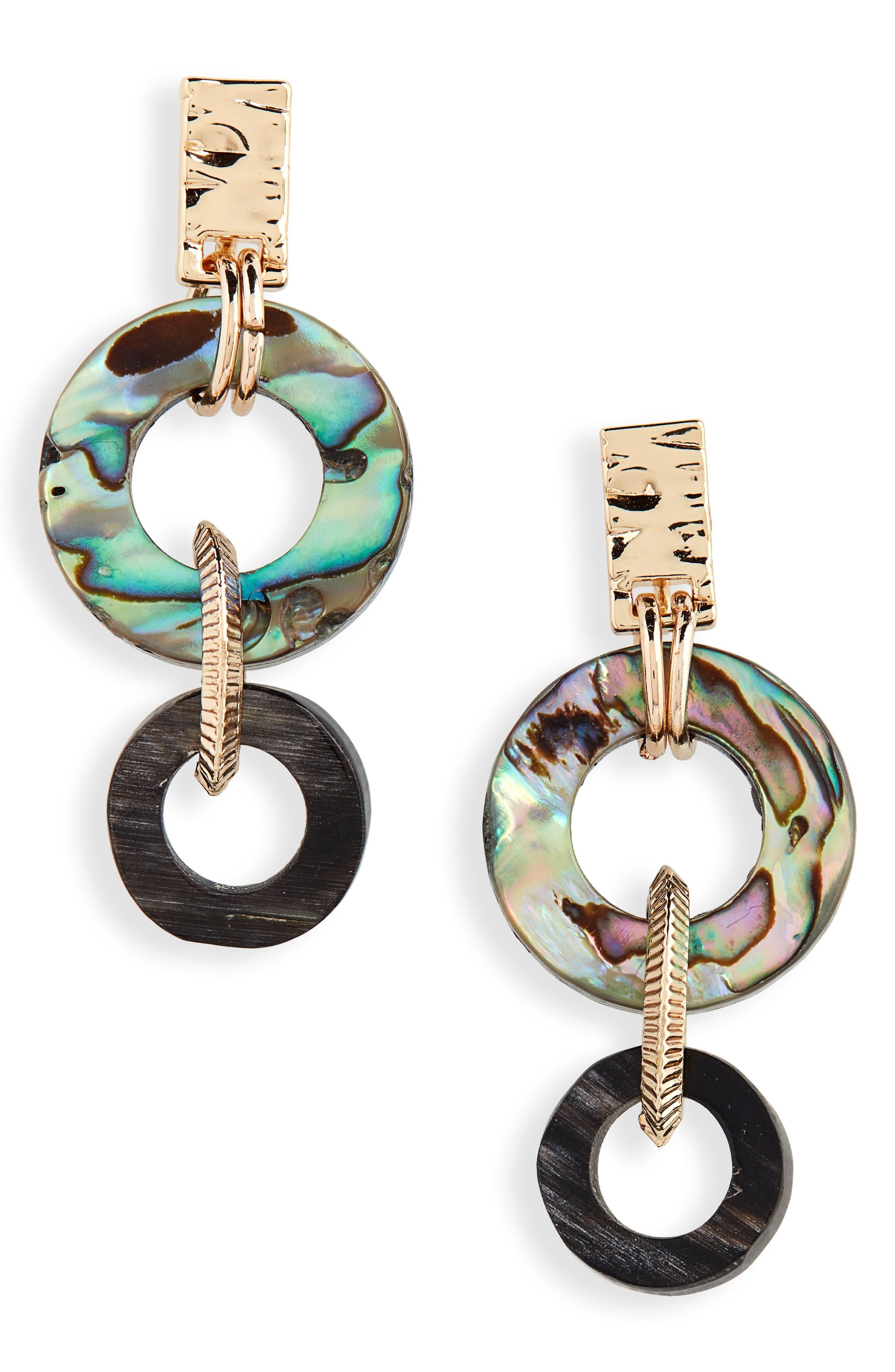 Small Abalone Drop Earrings