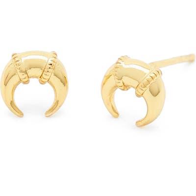 Gorjana Cayne Crescent Mini Stud Earrings