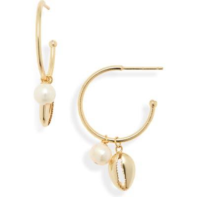 Argento Vivo Seychelle Freshwater Pearl Hoop Earrings