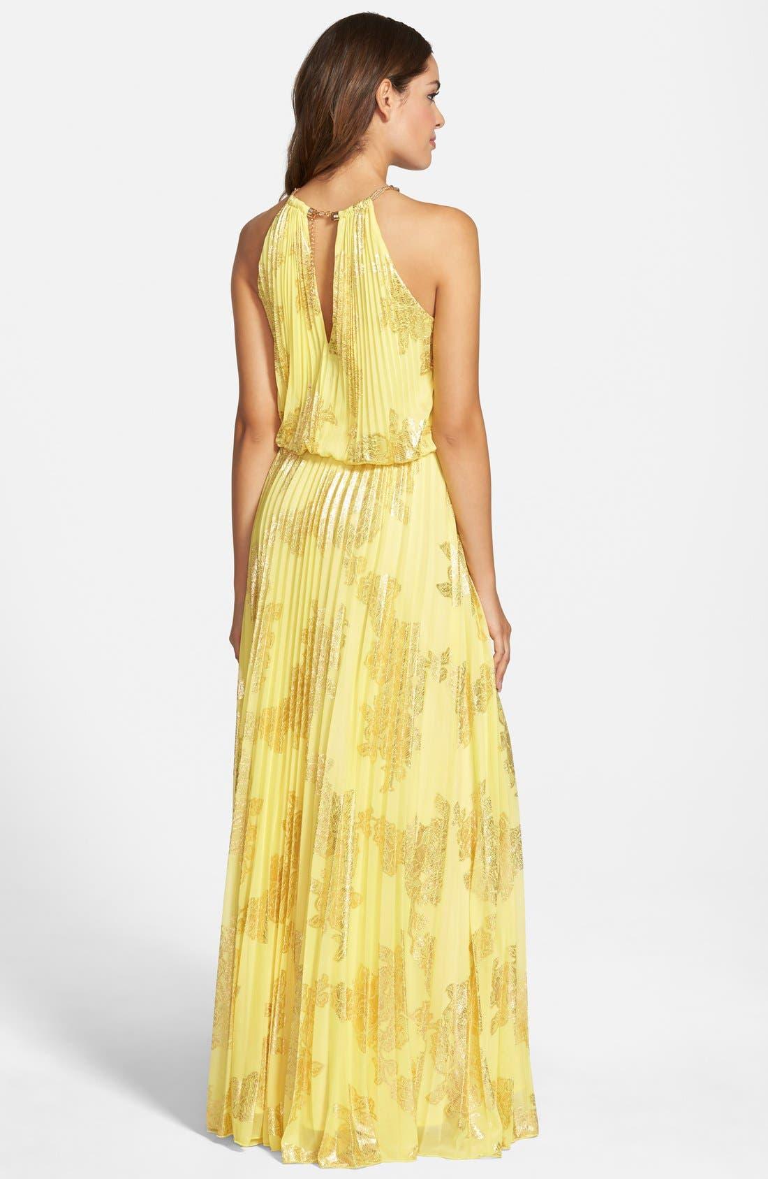 ,                             Foiled Pleated Jersey Blouson Dress,                             Alternate thumbnail 23, color,                             728