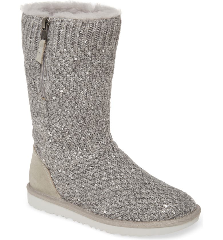 UGG<SUP>®</SUP> Sequin Knit Boot, Main, color, SEAL