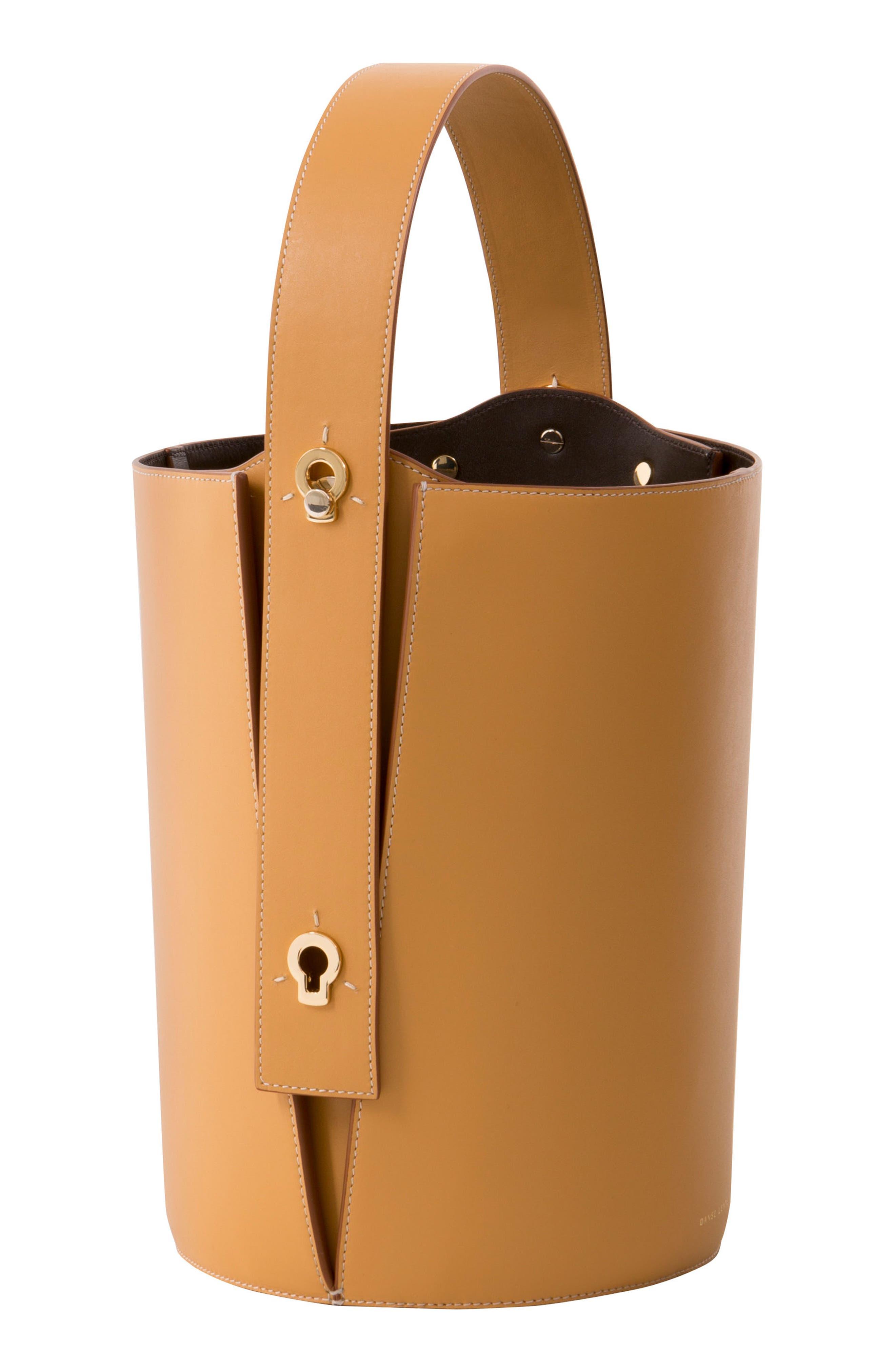,                             Mini Lorna Leather Bucket Bag,                             Alternate thumbnail 2, color,                             SAND