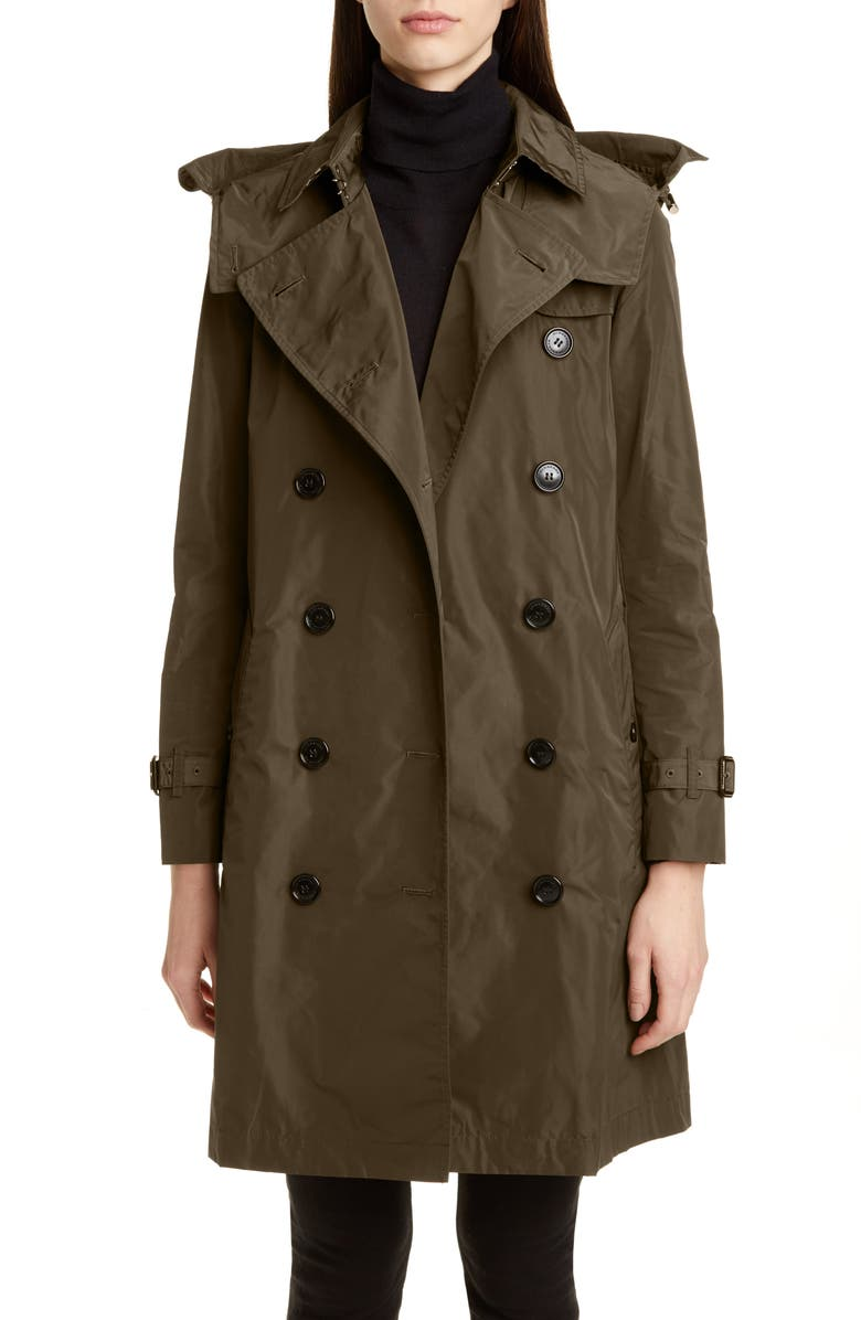 BURBERRY Kensington Trench Coat with Detachable Hood, Main, color, 200