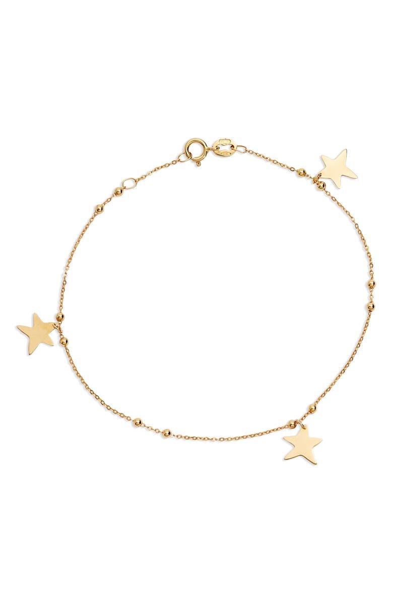BONY LEVY 14K Gold Star Charm Bracelet, Main, color, 710