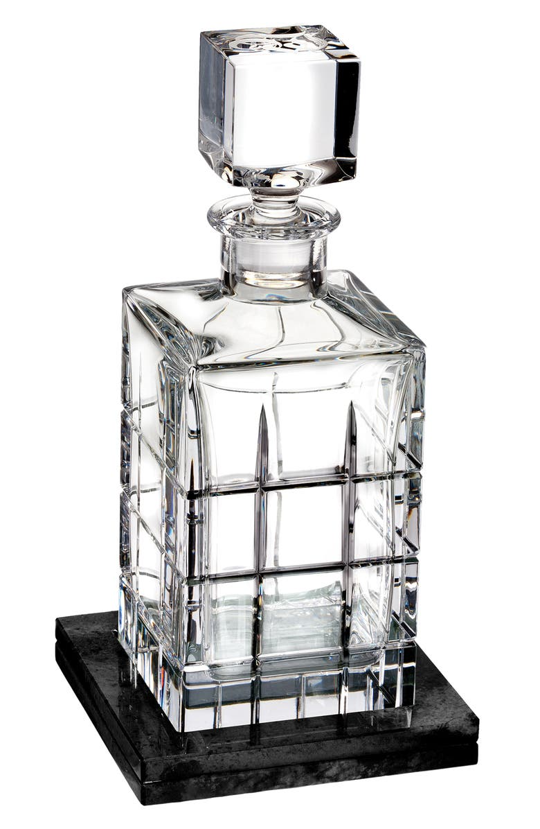 WATERFORD Cluin Lead Crystal Decanter & Coaster, Main, color, CRYSTAL