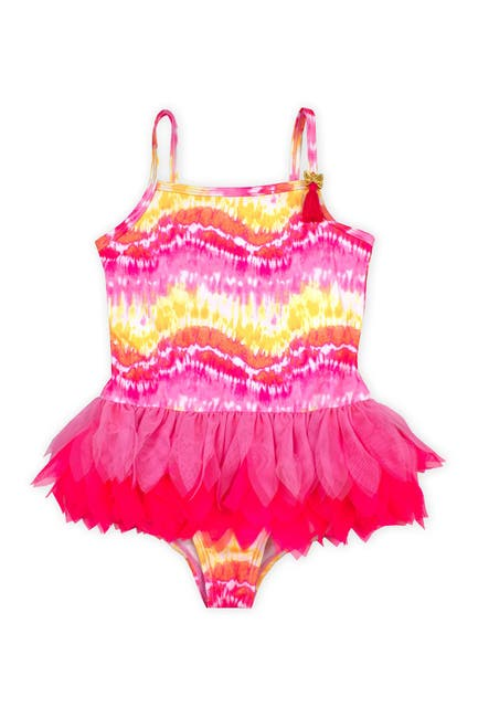 Image of BISCOTTI Multi Tie-Dye Tutu Swimsuit
