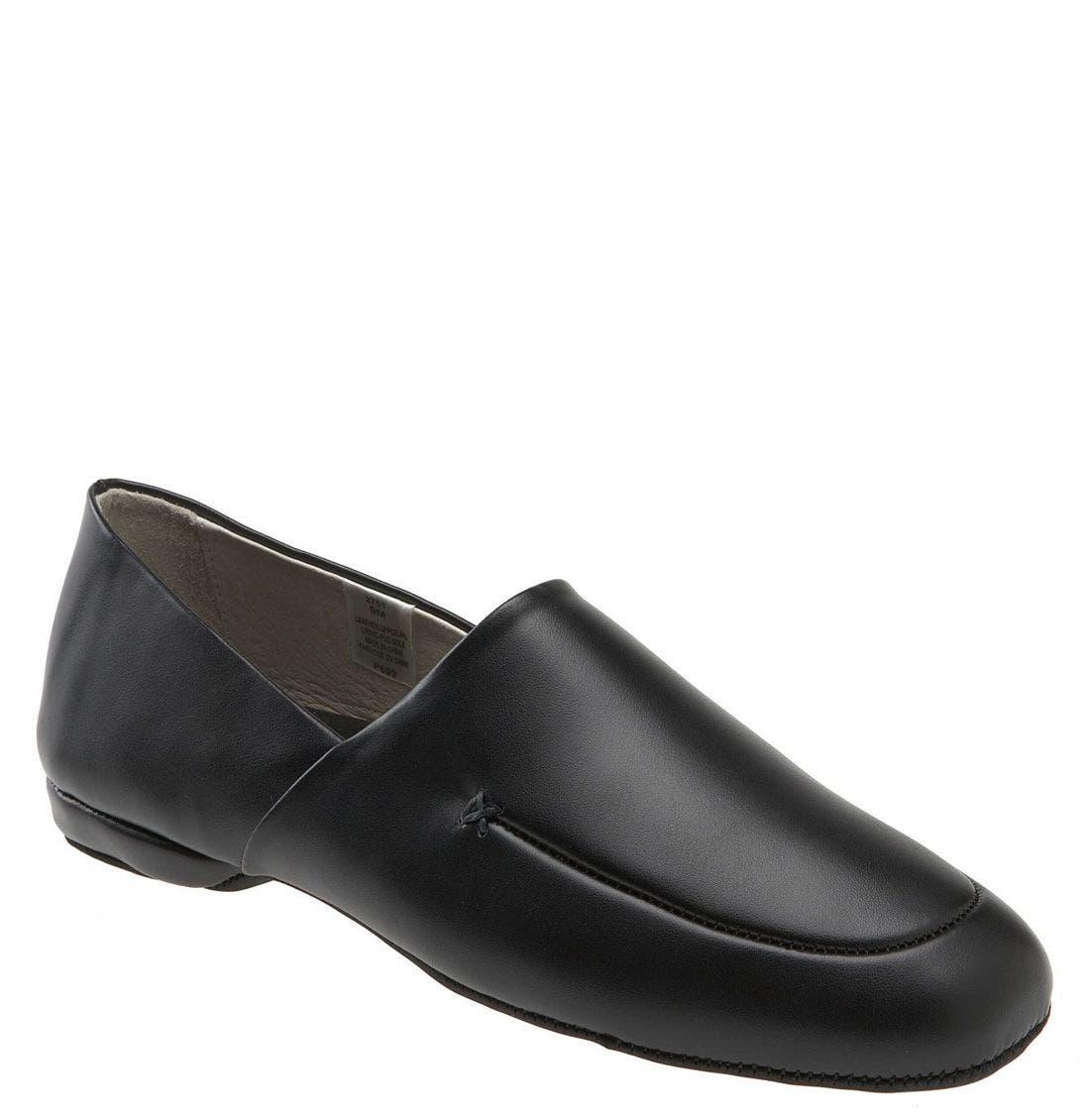 Men's 1950s Shoes Styles- Classics to Saddles to Rockabilly Mens L.b. Evans Duke Opera Slipper Size 9 XW - Black Online Only $49.95 AT vintagedancer.com