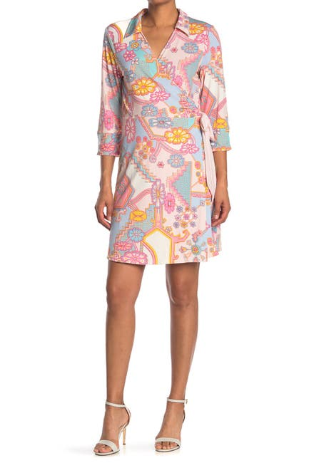 Image of Laundry By Shelli Segal Matte Jersey Reversible Wrap Dress