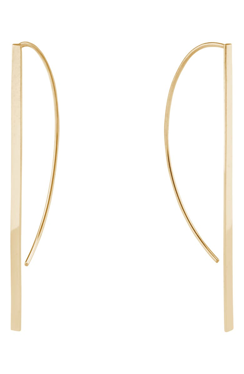 LANA JEWELRY Short P-Hoop Earrings, Main, color, GOLD
