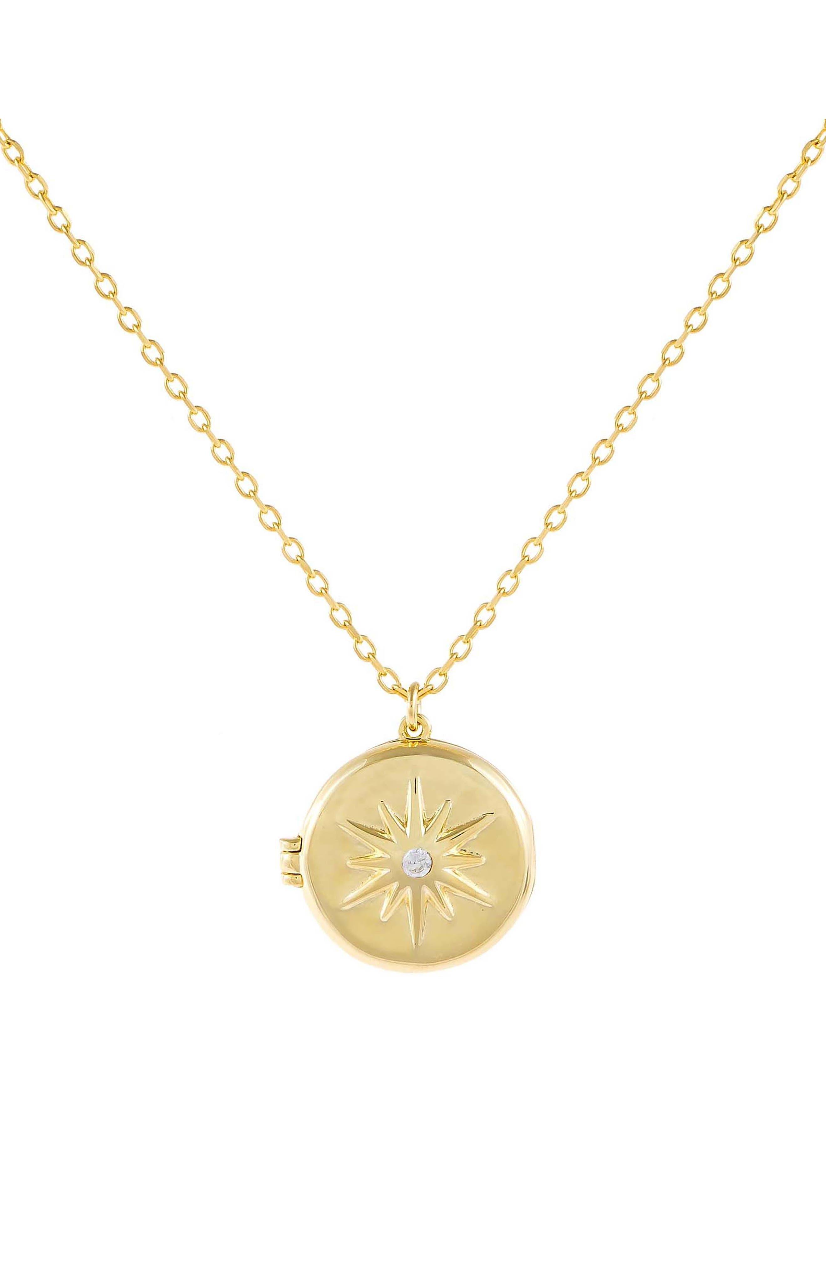 Women's Adina's Jewels Starburst Locket Necklace
