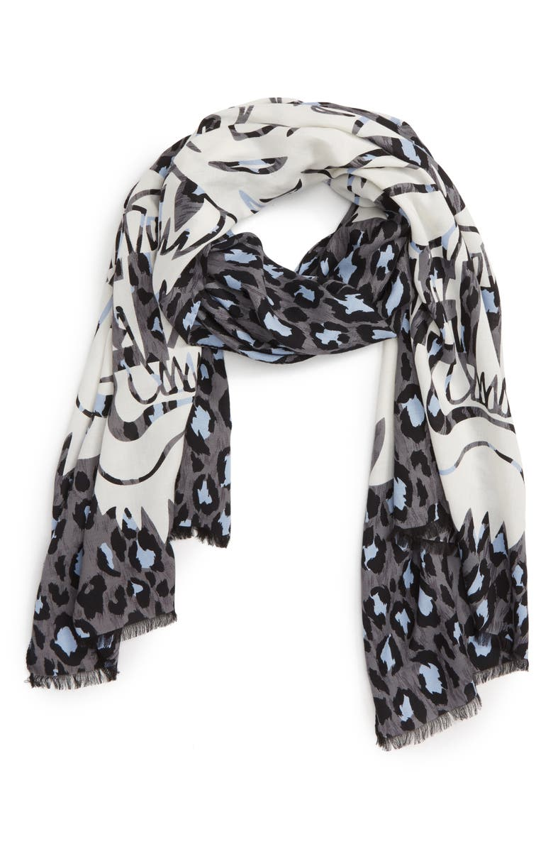 a971a337a8 KENZO Leopard Print Tiger Scarf | Nordstrom