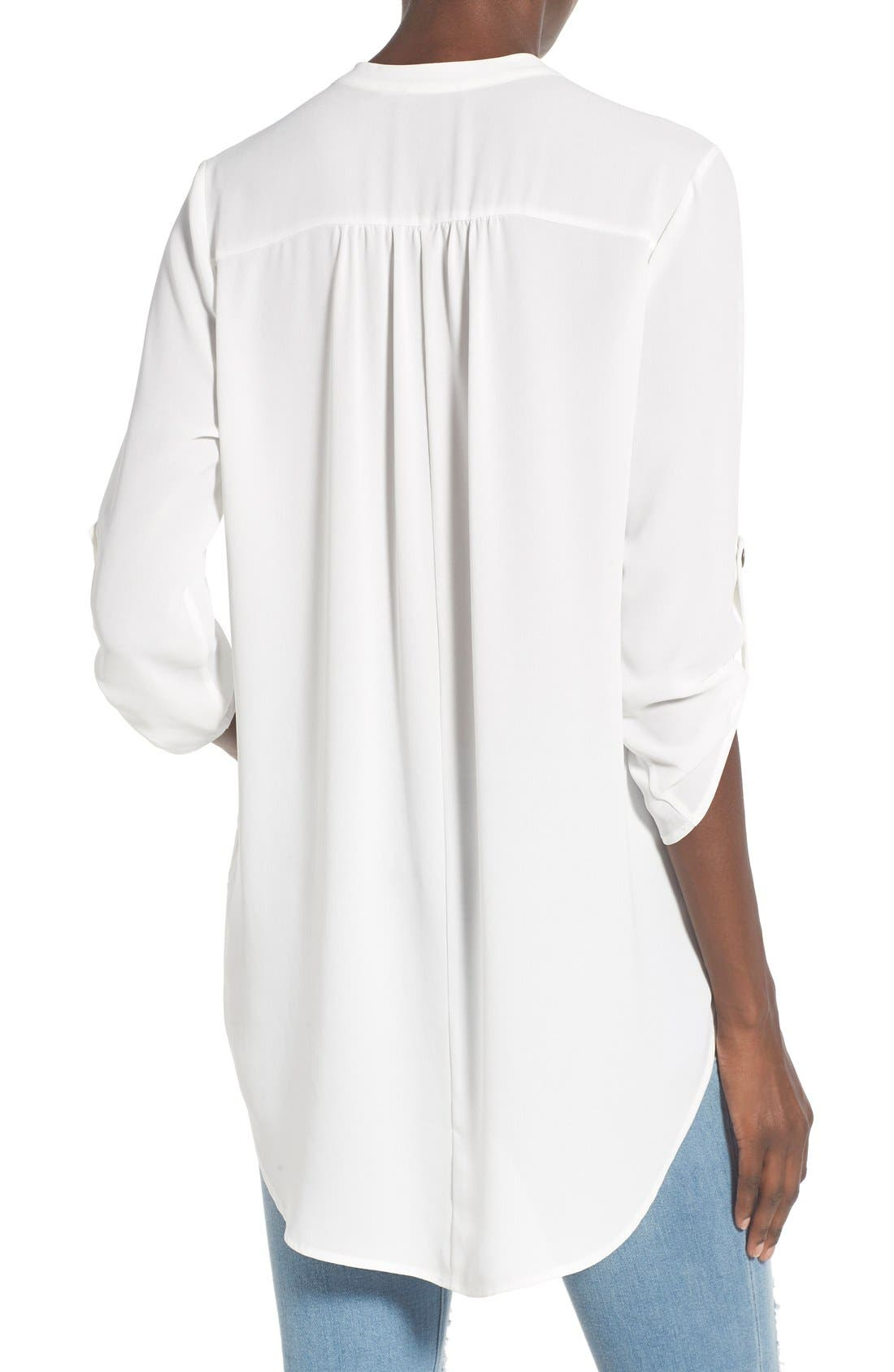 ,                             Perfect Roll Tab Sleeve Tunic,                             Alternate thumbnail 416, color,                             902
