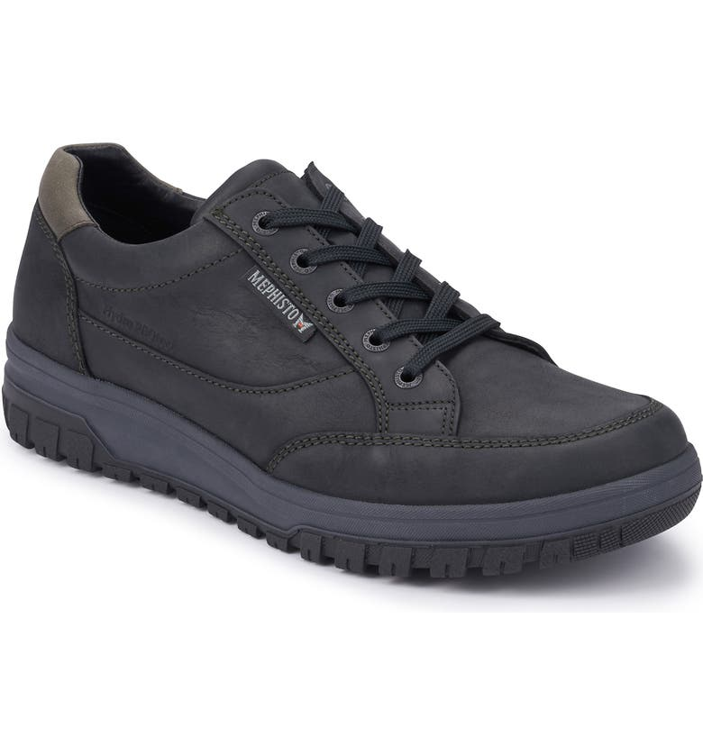 MEPHISTO 'Paco' Waterproof Walking Sneaker, Main, color, BLACK LEATHER