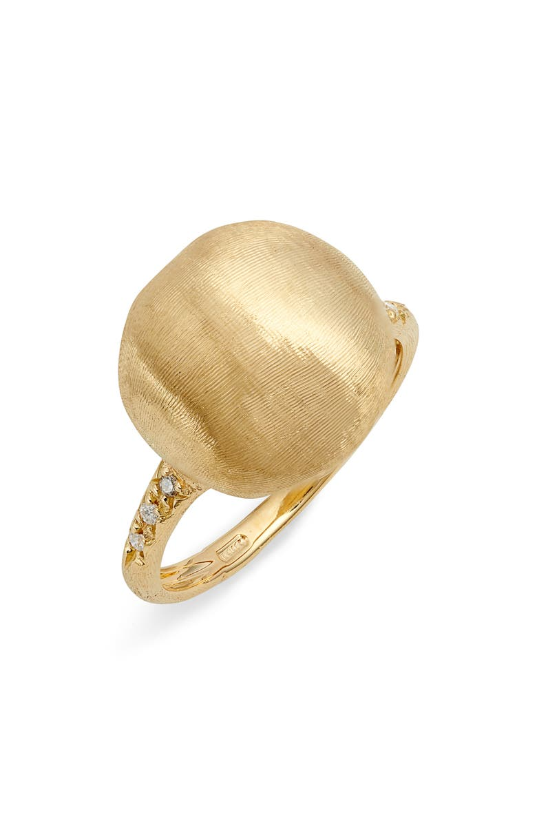 MARCO BICEGO Africa Pavé Diamond Statement Ring, Main, color, YELLOW GOLD