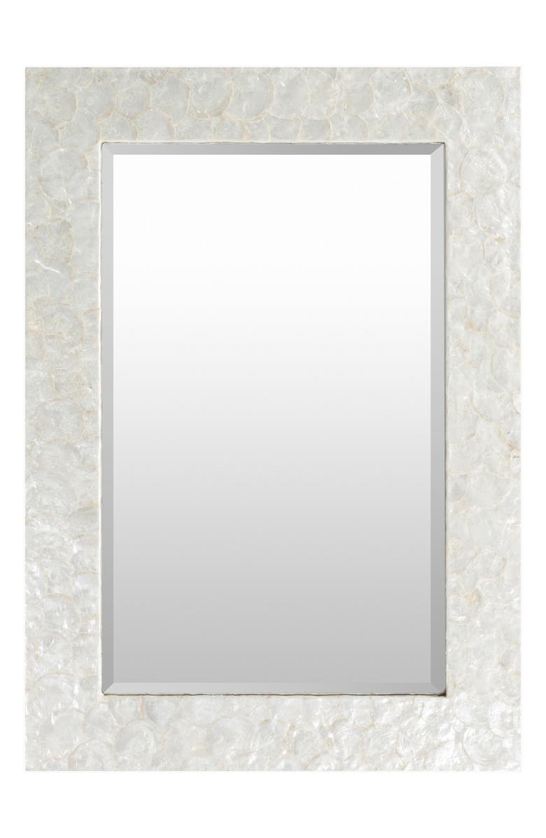 SURYA HOME Whitaker Inlaid Mirror, Main, color, WHITE