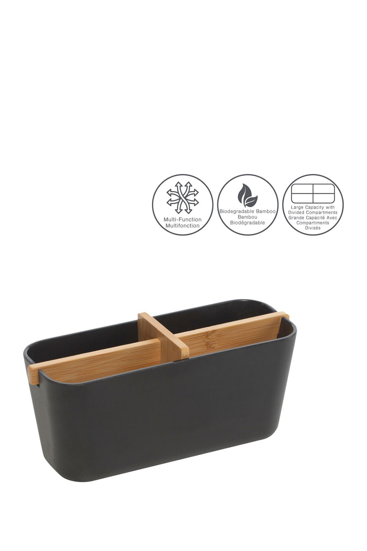 Image of Moda At Home Multifunctional Bamboo Storage Container
