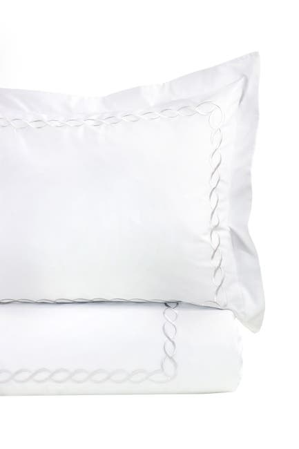 Image of Melange Home Full/Queen or King 600 Thread Count Cotton Rope Embroidered Duvet Set