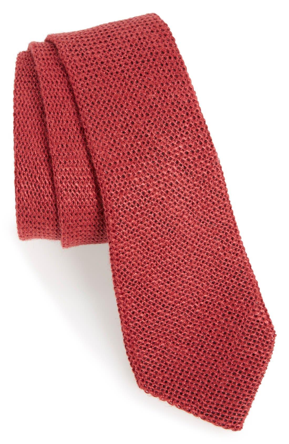 ,                             Knit Linen Tie,                             Main thumbnail 5, color,                             600