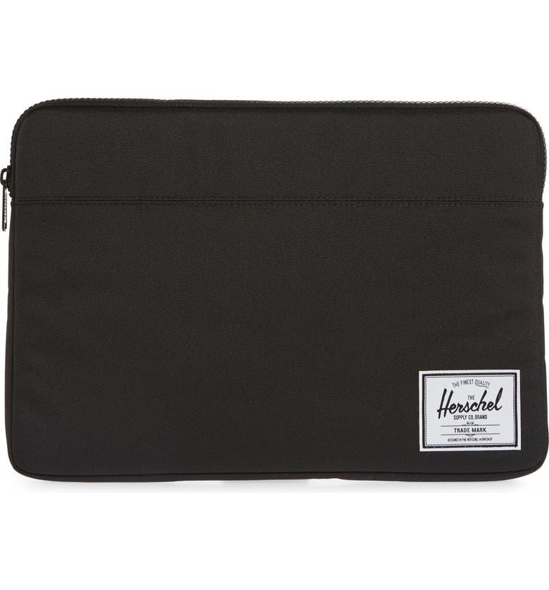 HERSCHEL SUPPLY CO. Anchor 15-Inch MacBook Sleeve, Main, color, BLACK