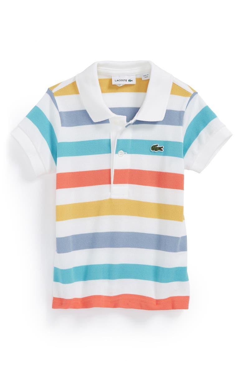 db1b7dc6 Lacoste Multicolor Stripe Piqué Polo (Baby Boys) | Nordstrom