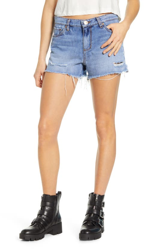 Sts Blue Ripped High Waist Denim Shorts In Gatewood