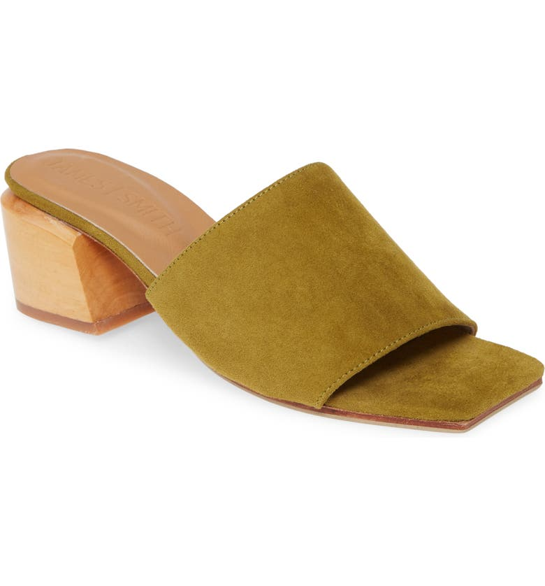 JAMES SMITH The Sicily Slide Sandal, Main, color, PISTACCHIO SUEDE