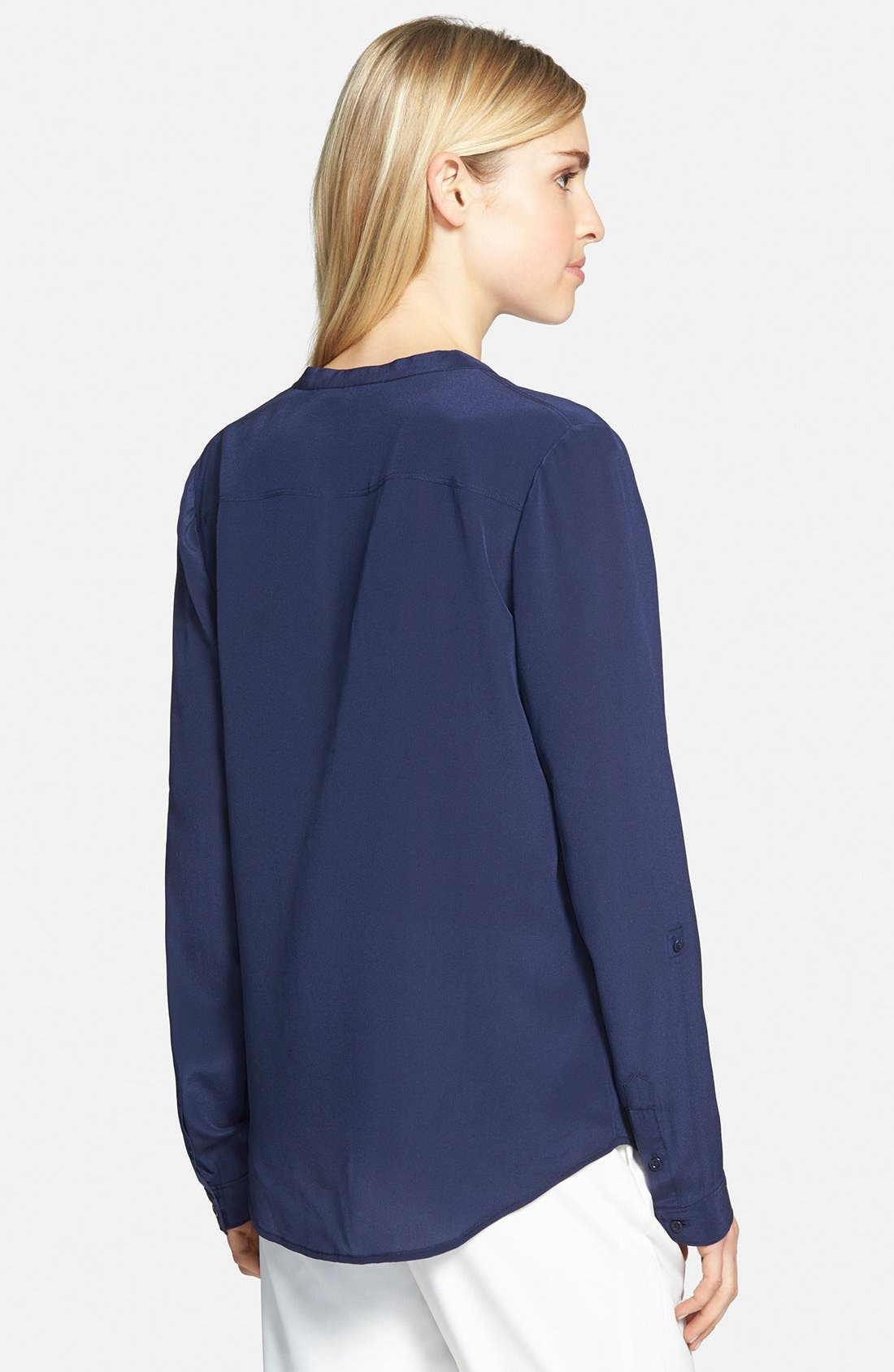 ,                             Collarless Silk Blouse,                             Alternate thumbnail 46, color,                             410