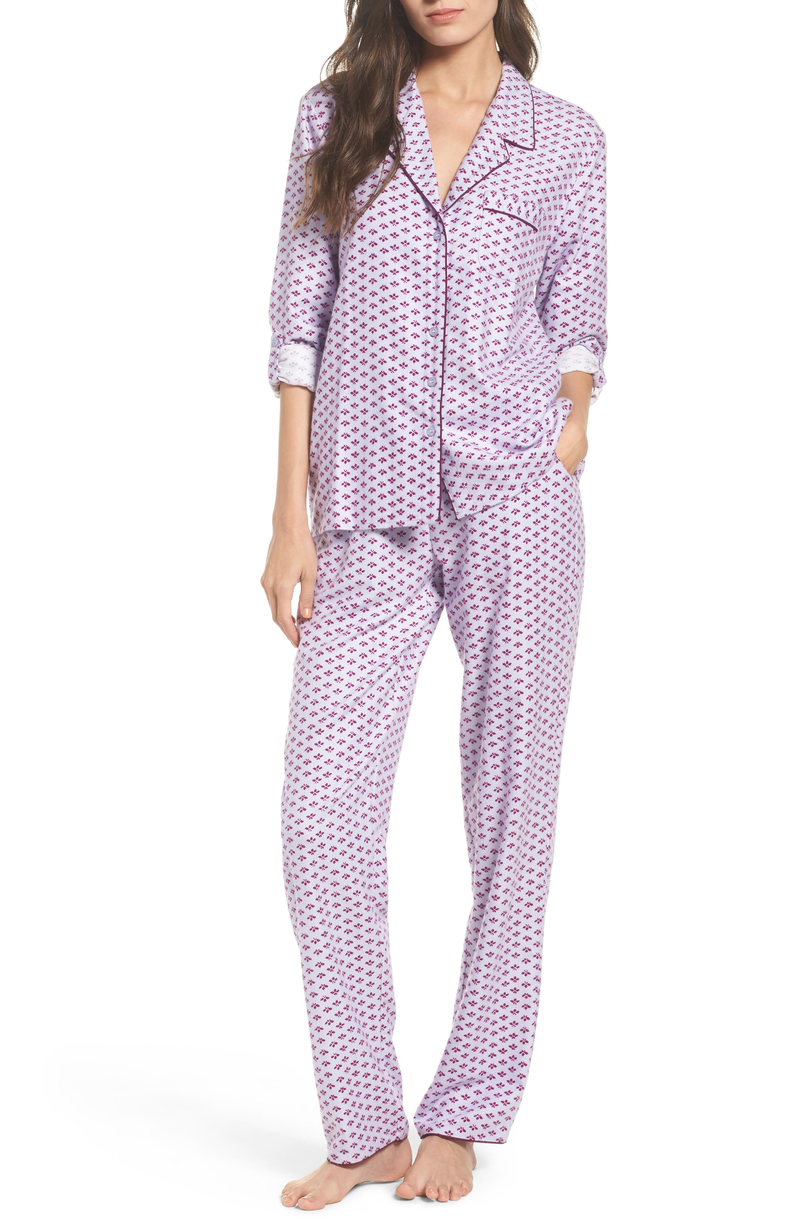 ,                             Lingerie Starlight Flannel Pajamas,                             Main thumbnail 9, color,                             530