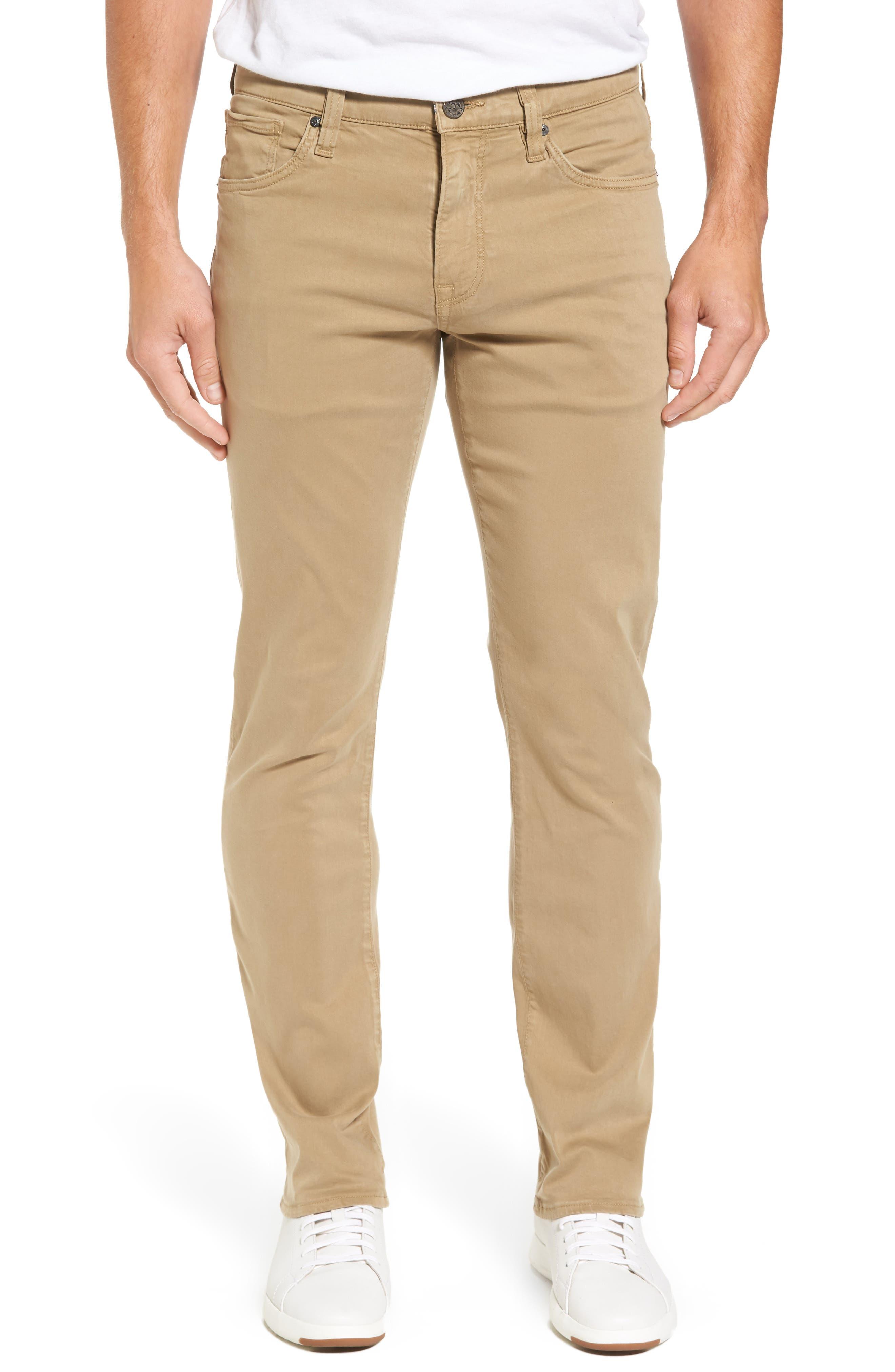Courage Straight Leg Twill Pants, Main, color, KHAKI TWILL