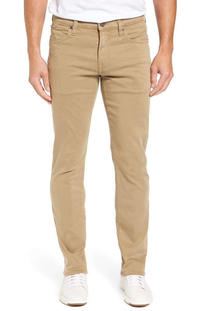 34 HERITAGE Courage Straight Leg Twill Pants, Main, color, KHAKI TWILL