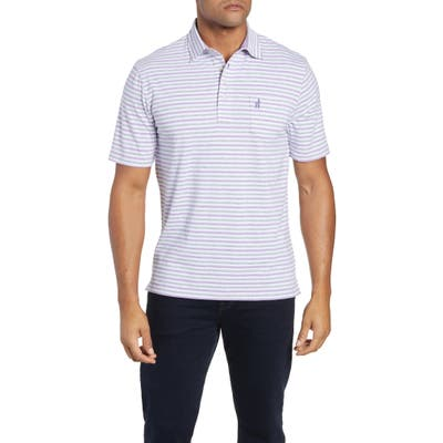 Johnnie-O Palmetto Regular Fit Stripe Polo, Purple