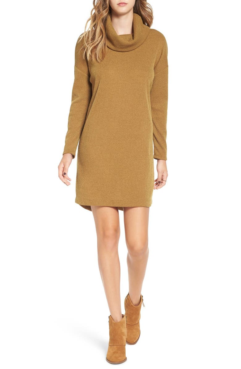 --- Long Sleeve Cowl Neck Sweater Dress, Main, color, 200