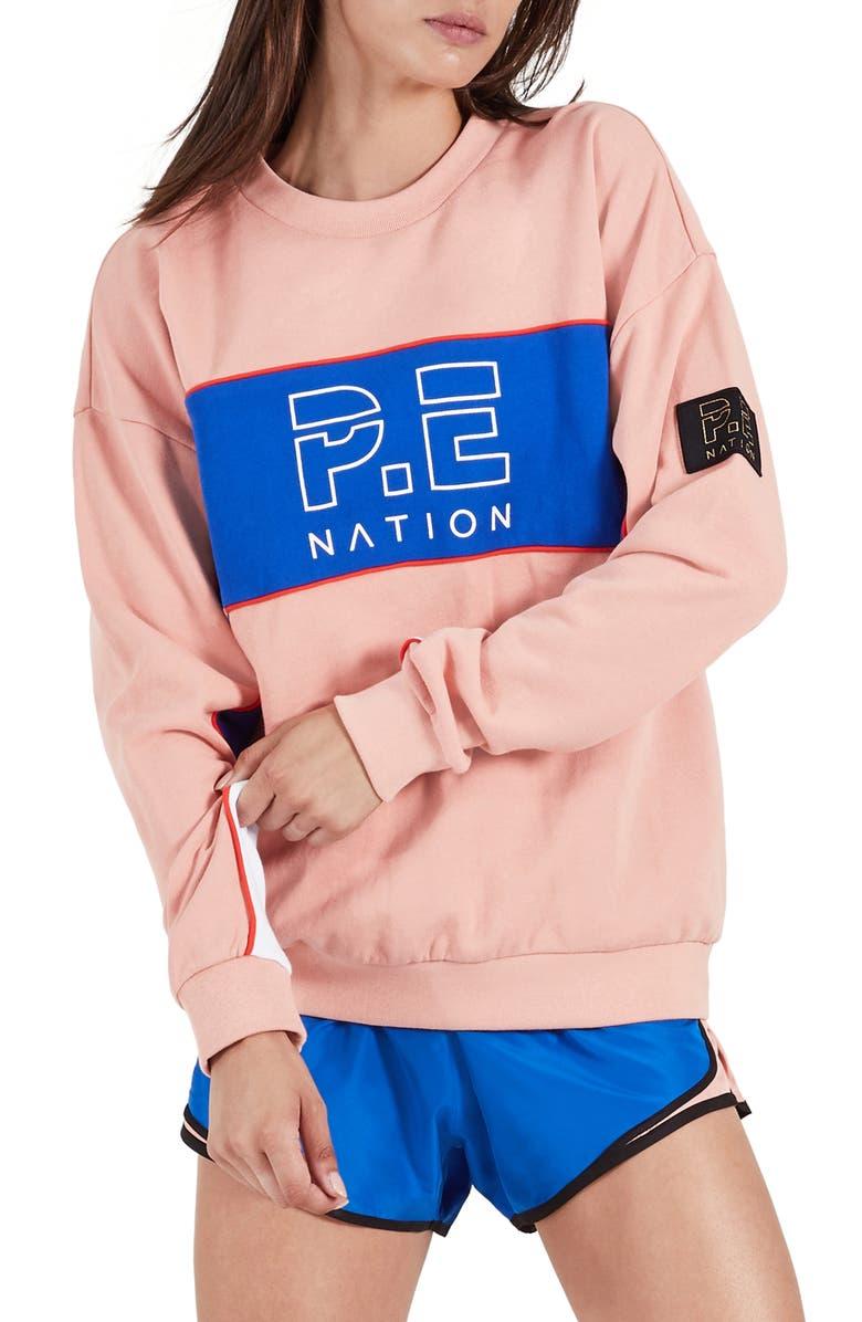 P.E NATION Sonic Sweatshirt, Main, color, 650