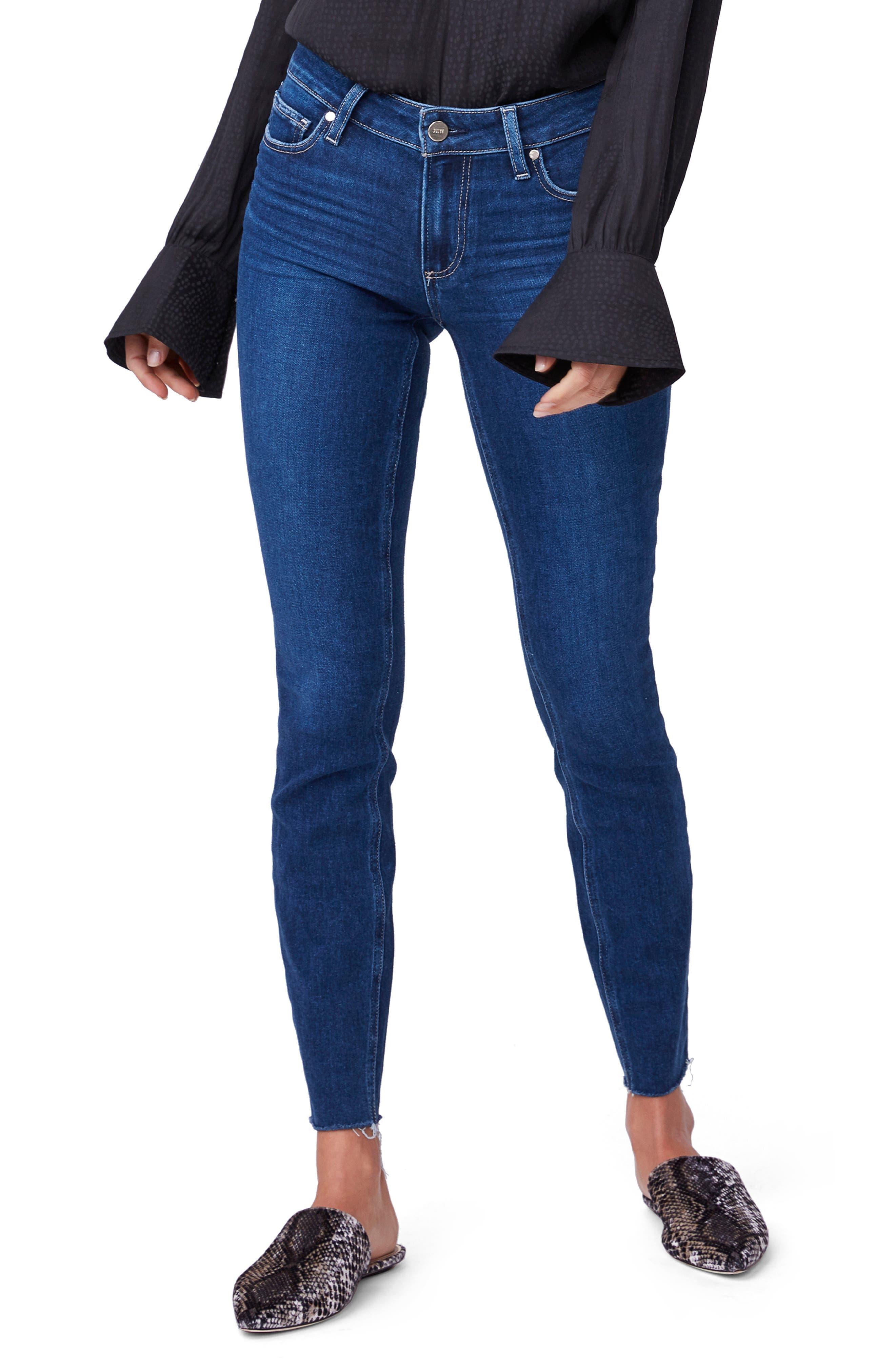 Image of PAIGE Verdugo Ankle Raw Hem Jeans