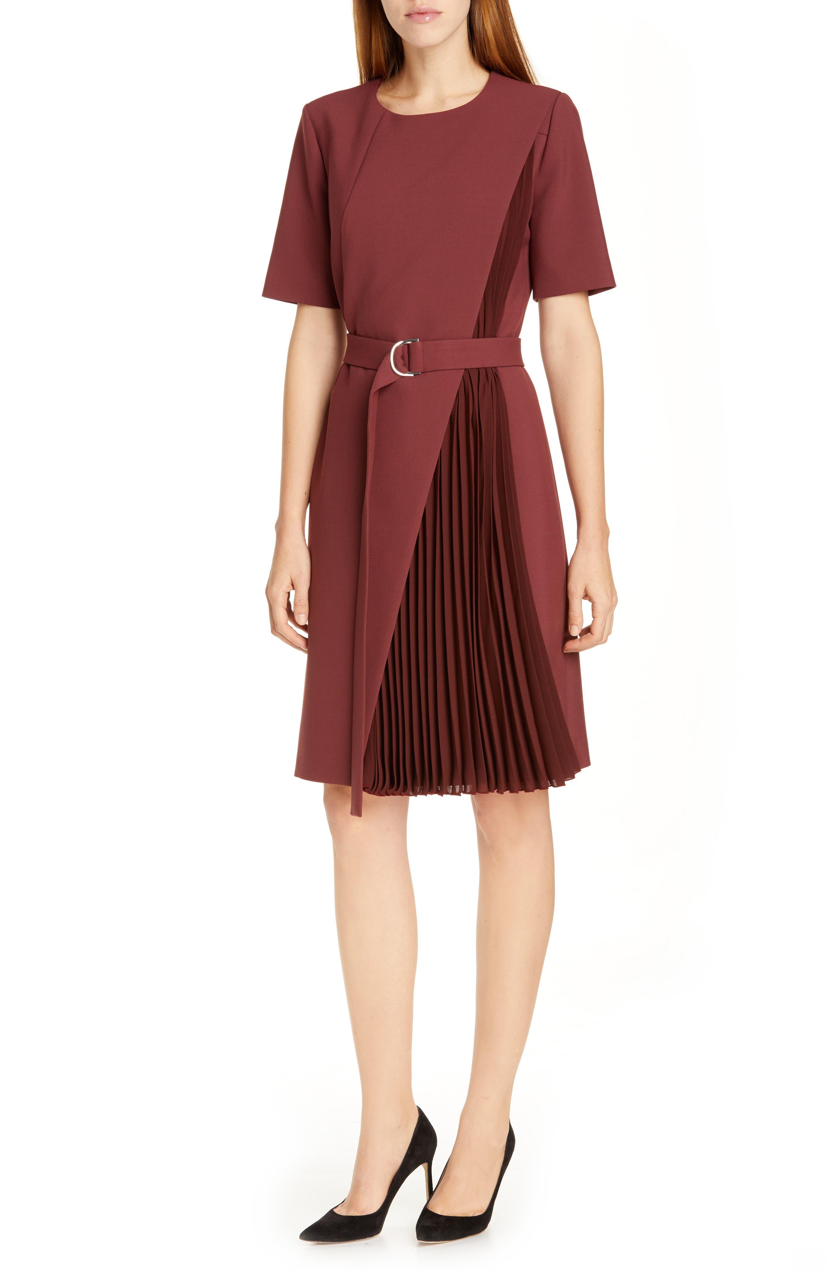 Boss Dakilane Soft Stretch Wrap Dress, Red