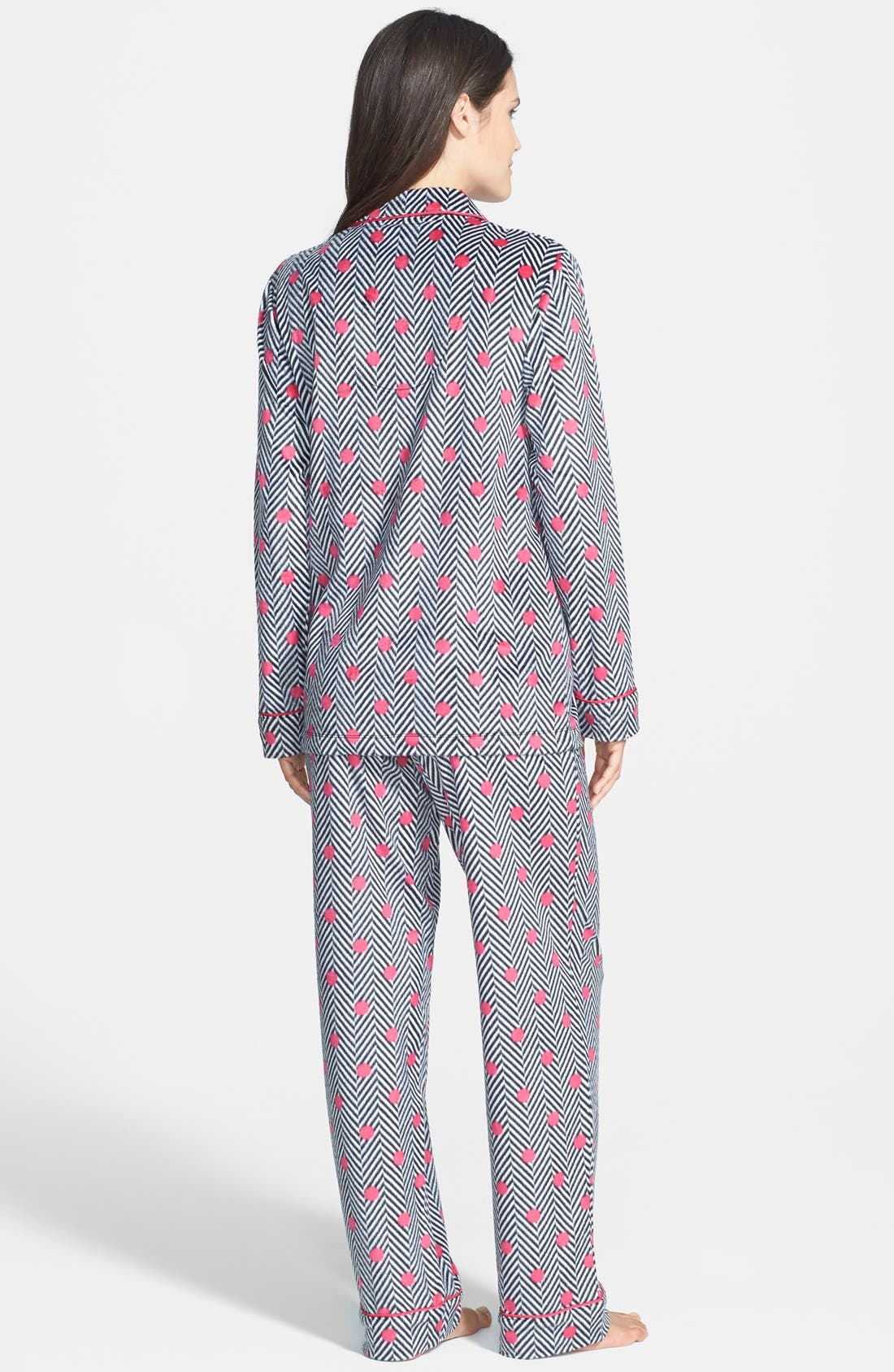 ,                             Long Sleeve Microfleece Pajamas,                             Alternate thumbnail 8, color,                             002