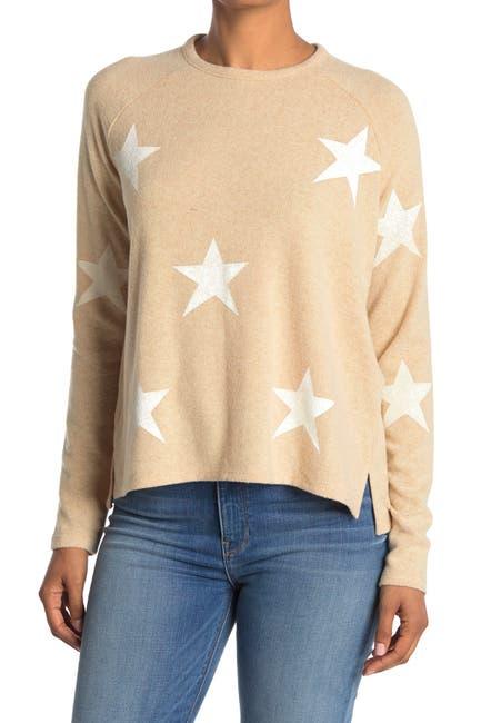 Image of Sweet Romeo Star Print Long Sleeve Shirt