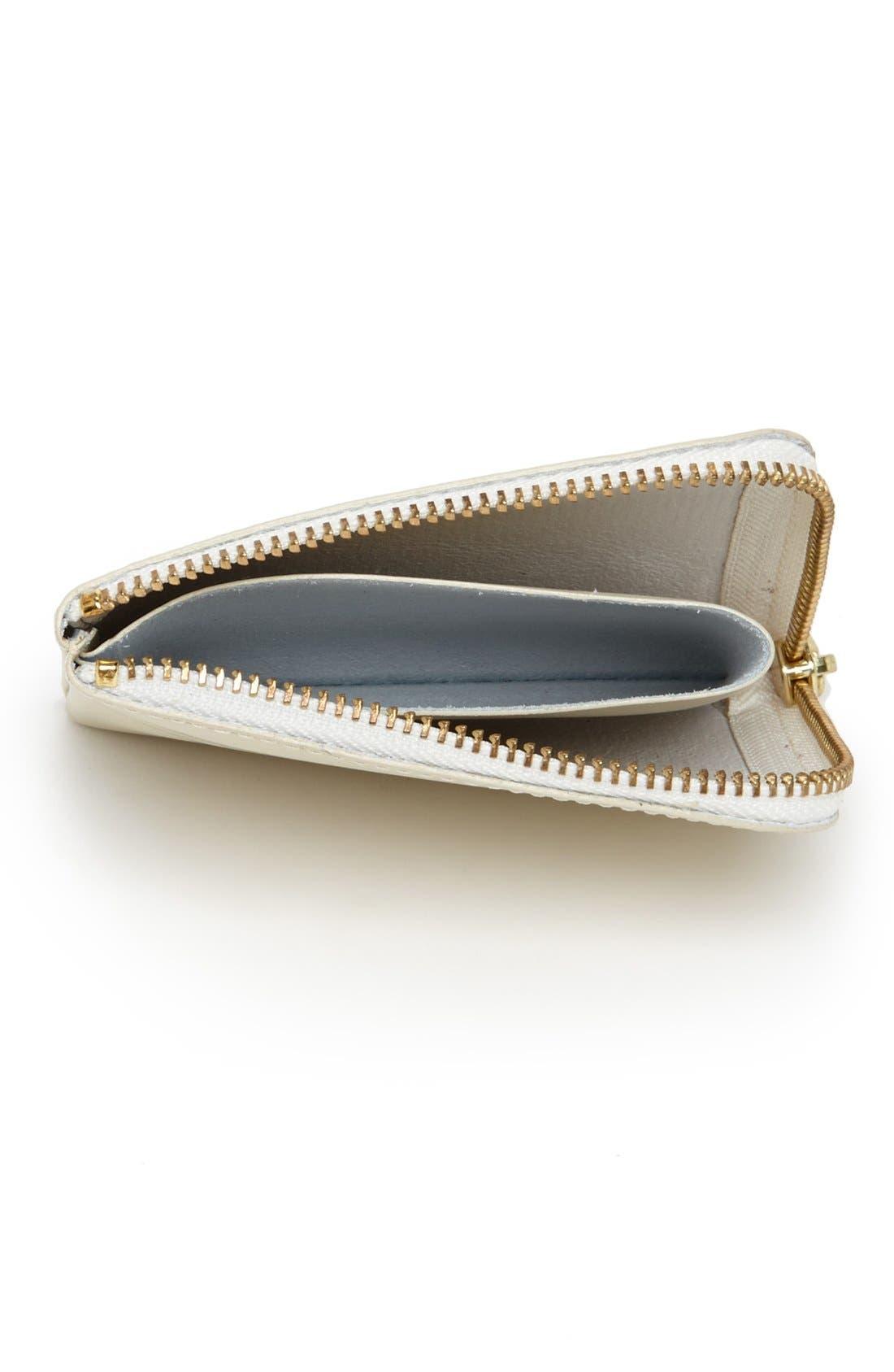,                             Half-Zip Leather Wallet,                             Alternate thumbnail 2, color,                             110