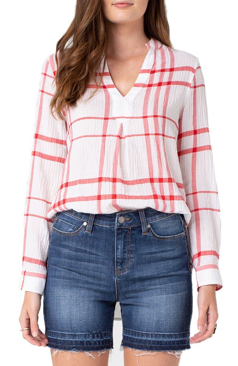 LIVERPOOL Plaid Shirt, Main, color, 160