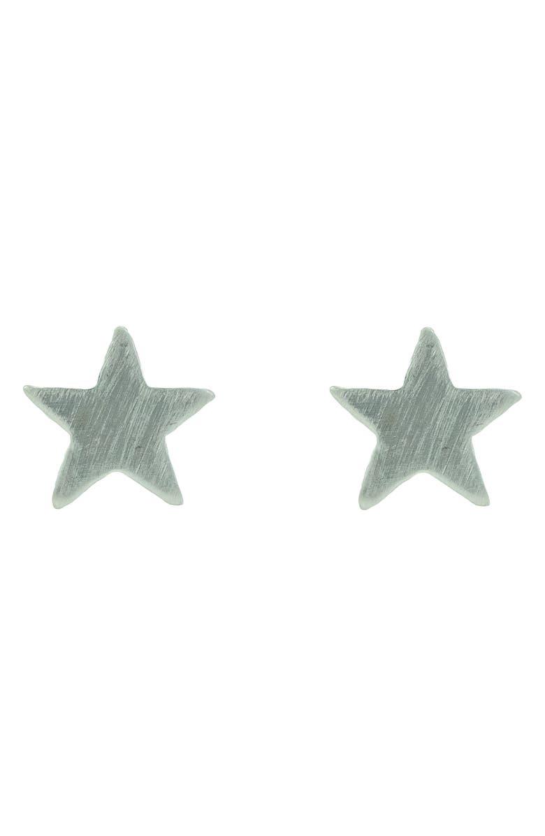 NASHELLE Lucky Stars Stud Earrings, Main, color, SILVER