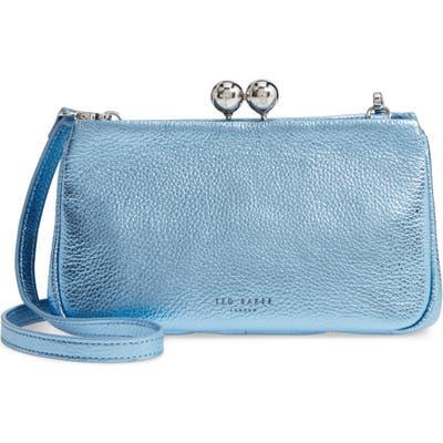Ted Baker London Chrina Leather Crossbody Bag - Blue