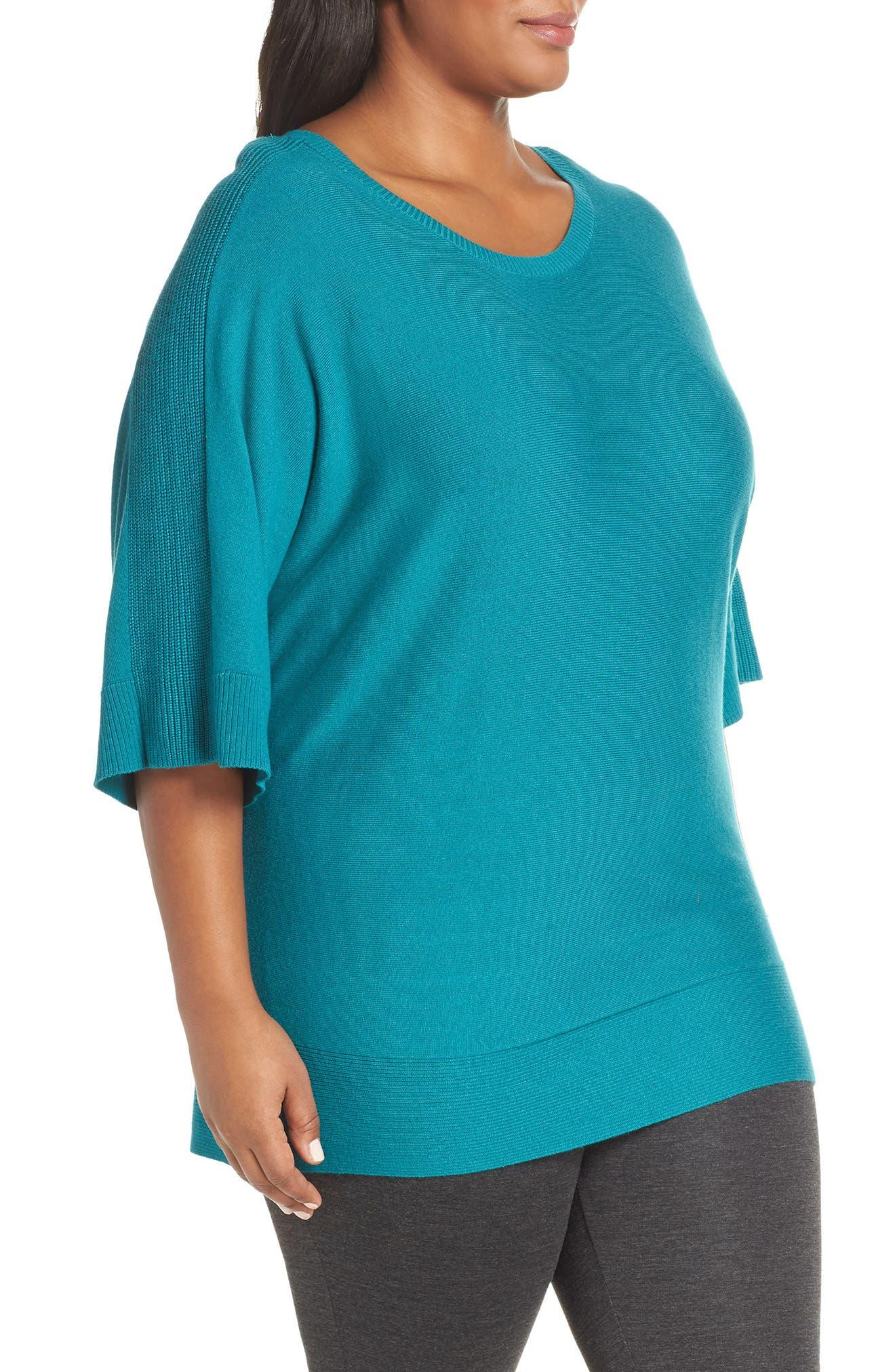 ,                             Cotton Blend Dolman Sleeve Sweater,                             Alternate thumbnail 9, color,                             440