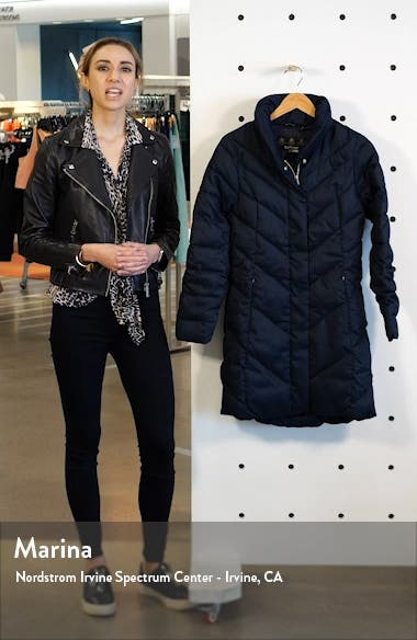 Barmack Chevron Quilted Coat, sales video thumbnail