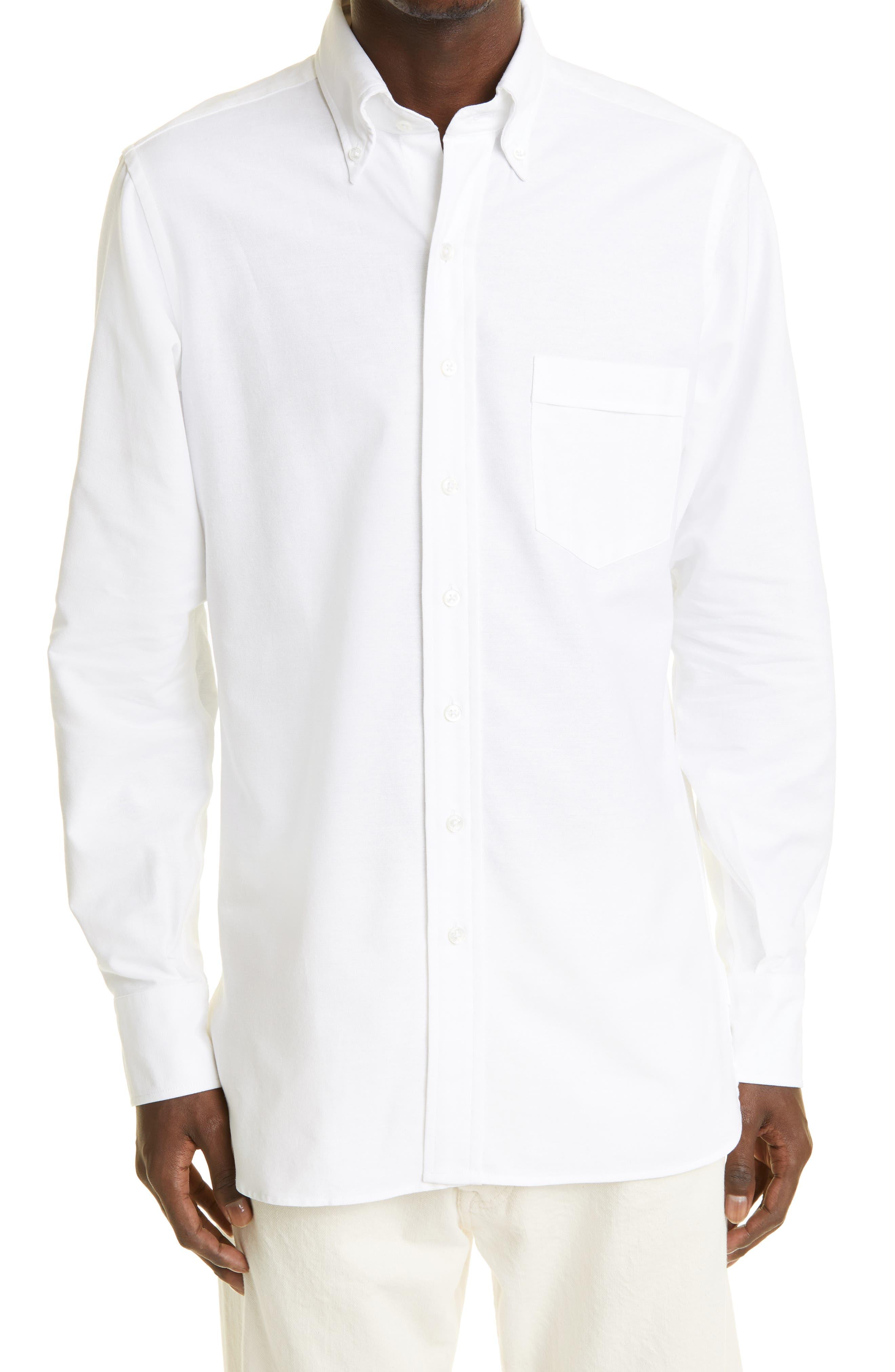 Oxford Cotton Button-Down Shirt